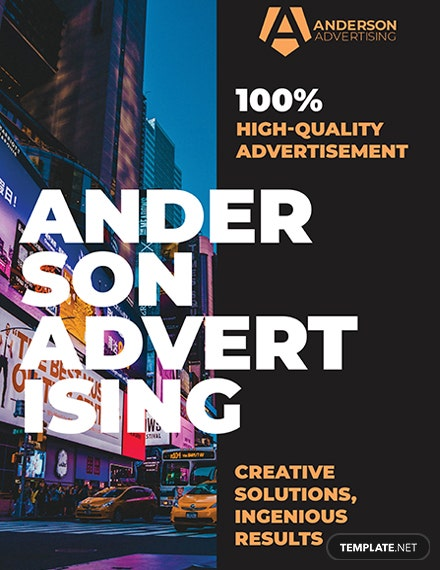 Advertising agency Poster Template
