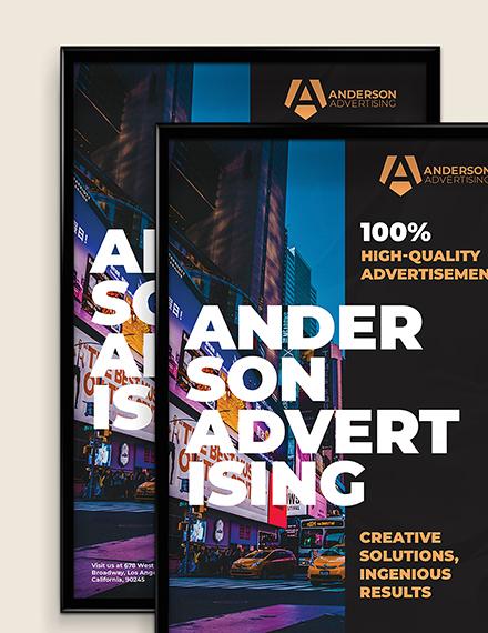 Sample Advertising agency Poster