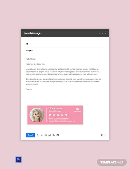 Spa Email Signature Template