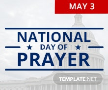 Free National Day of Prayer Pinterest Profile Photo Template