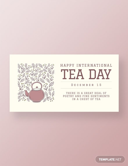 Free International Tea Day Facebook Post