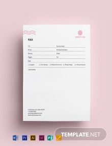 Spa Fax Paper Template
