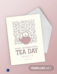 Free International Tea Day Greeting Card