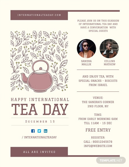 Free International Tea Day Poster