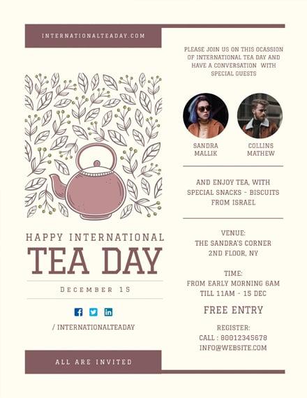 Free International Tea Day Poster