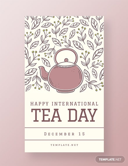 Free International Tea Day Whatsapp Image