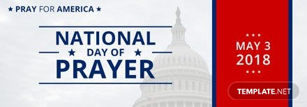 Free National Day of Prayer Tumblr Banner Template