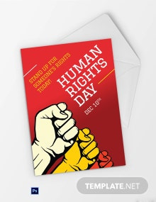Free World Human Rights Day Greeting Card