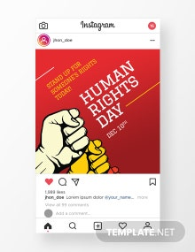 Free World Human Rights Day Instagram Story