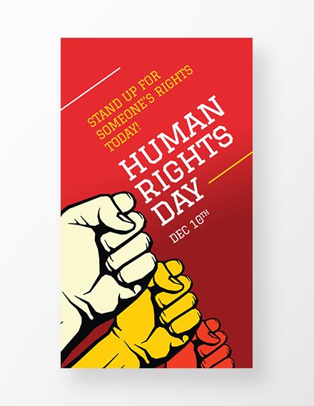 Free International Human Rights Day Whatsapp