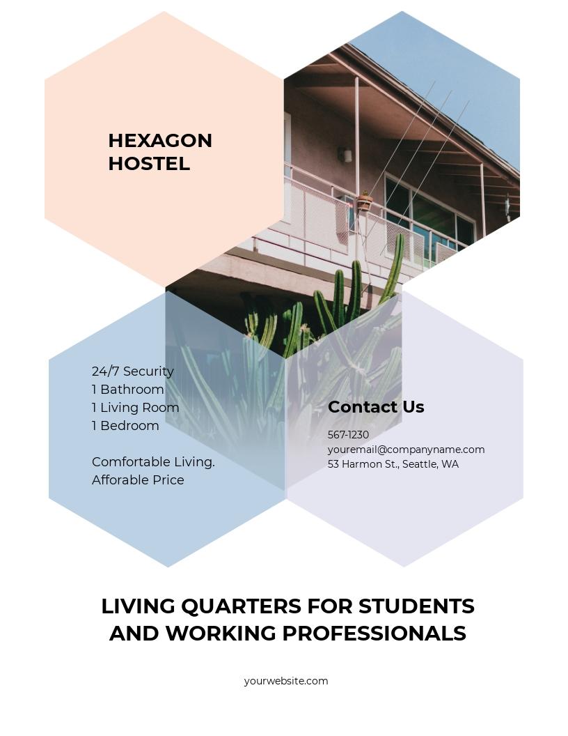 Hostel Flyer Template