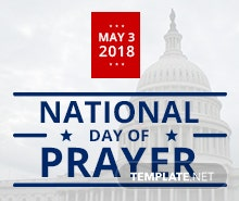 Free National Day of Prayer Tumblr Profile Photo Template