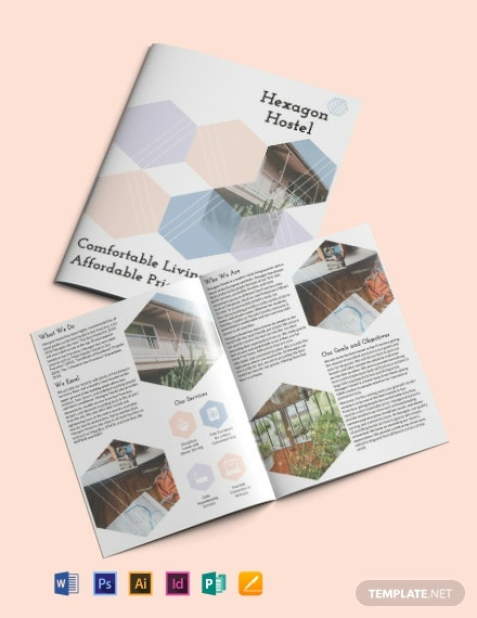 Hostel Bi Fold Brochure Template