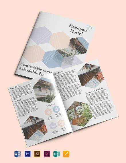 Hostel Bi-Fold Brochure Template