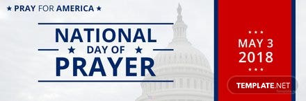 Free National Day of Prayer Twitter Header Cover Template