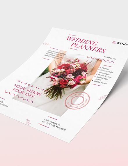 Sample Wedding Planners Flyer