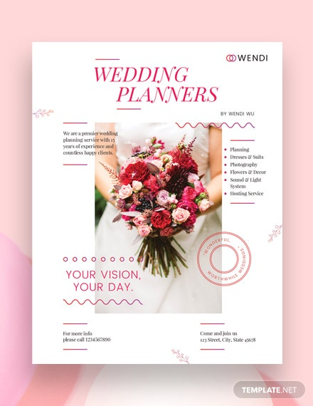 wedding planners flyer