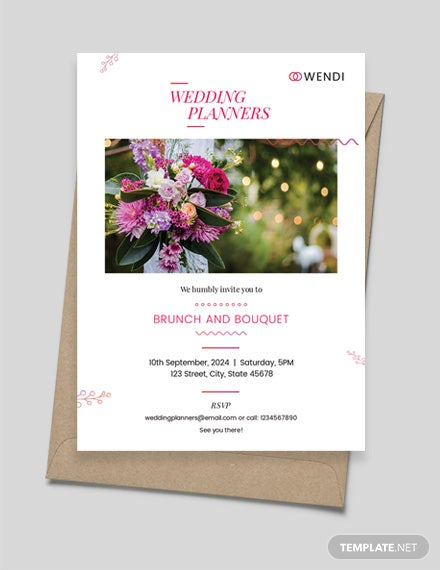 Wedding Planners Invitation Template