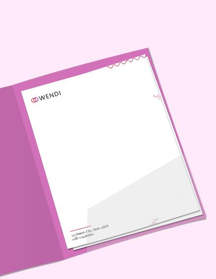 Sample Wedding Planners Letterhead Template