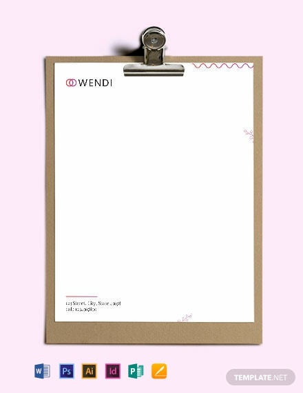 Wedding Planners Letterhead Template