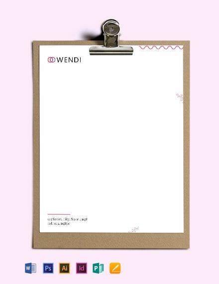 Download Wedding Planners Letterhead Template