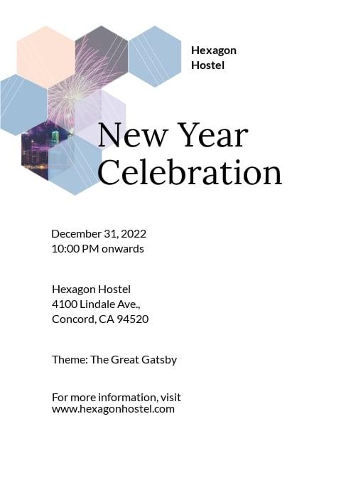 Hostel Invitation Template