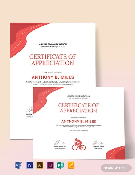 Bike Riding Certificate Template