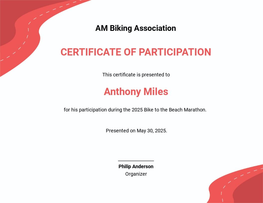 Bike Riding Certificate Template.jpe