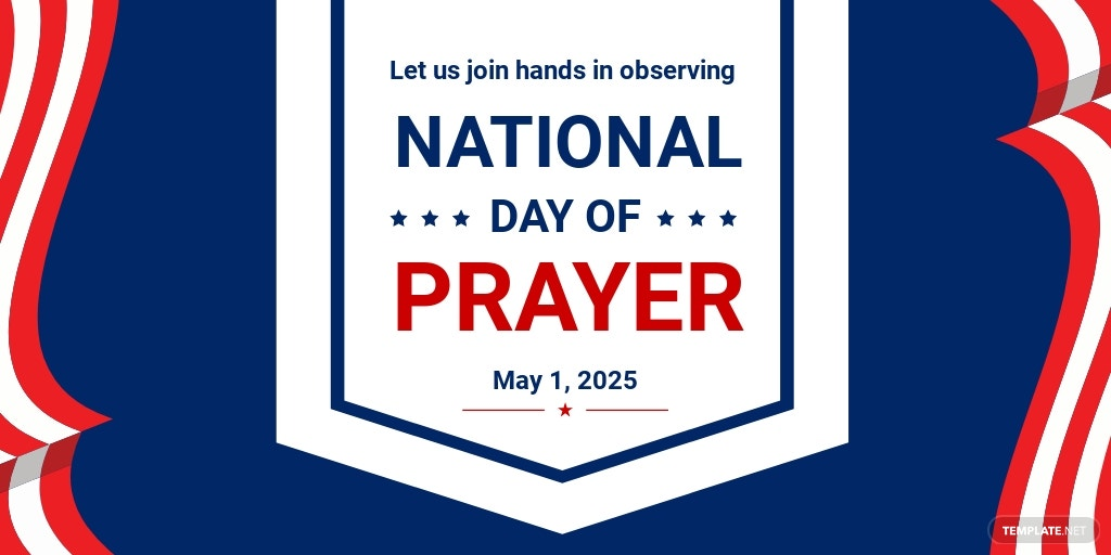 National Day of Prayer Twitter Post Template