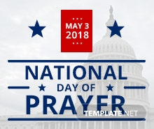 Free National Day of Prayer Twitter Post Template