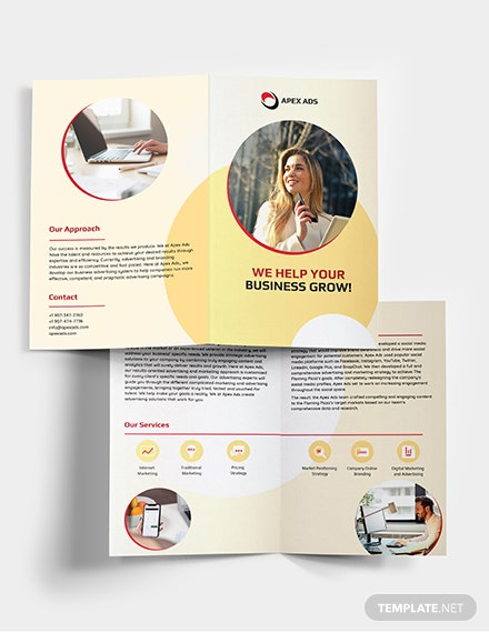 Advertising Consultant Bi-Fold Brochure Template