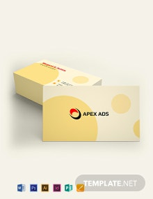 Advertising Consultant Business Card Template