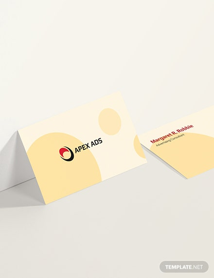 Sample Advertising Consultant Business Card