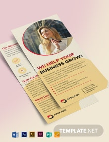 Advertising Consultant DL Card Template