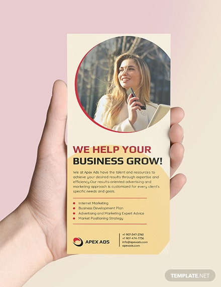 Sample Advertising Consultant DL Card