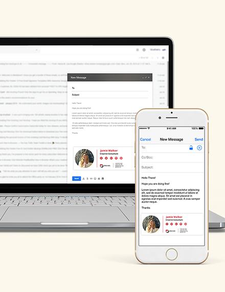 Advertising Consultant Email Signature Download