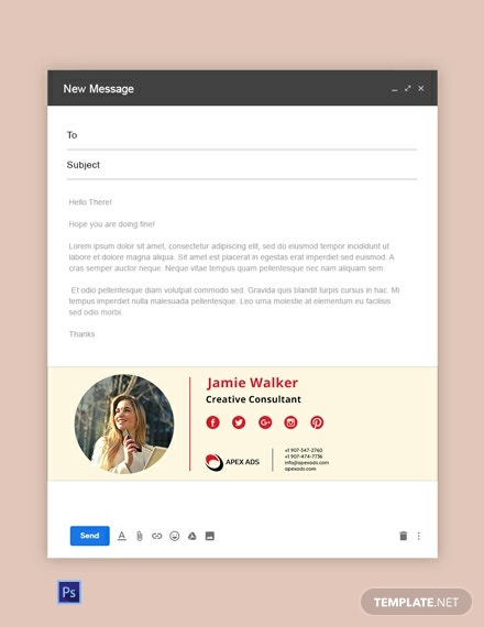 Advertising Consultant Email Signature Template