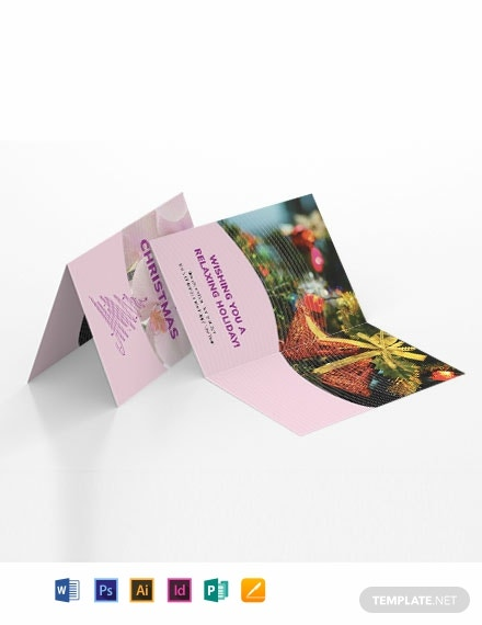 Massage Greeting Card Template