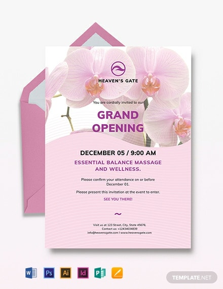 Massage Invitation Template
