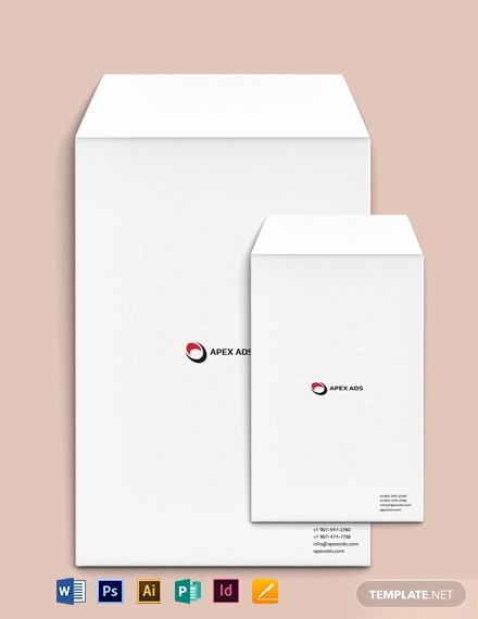 Advertising Consultant Envelope Template