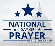 Free National Day of Prayer Twitter Profile Photo Template
