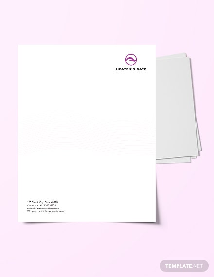 Massage Letterhead Template