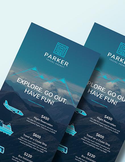 Sample Travel Agency Rack Card