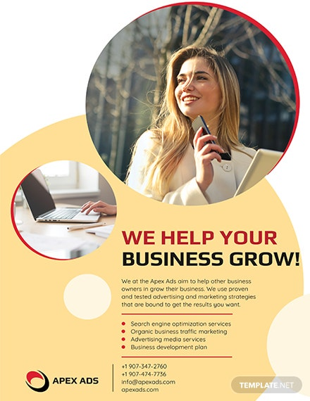 Advertising Consultant Flyers Template