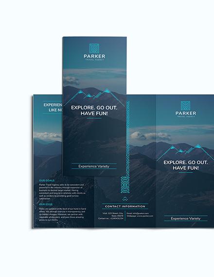 Sample Travel Agency Tri Fold Brochure