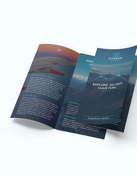 Travel Agency Tri Fold Brochure Download