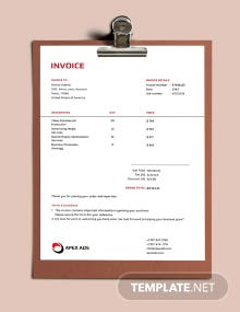 Advertising Consultant Invoice Template