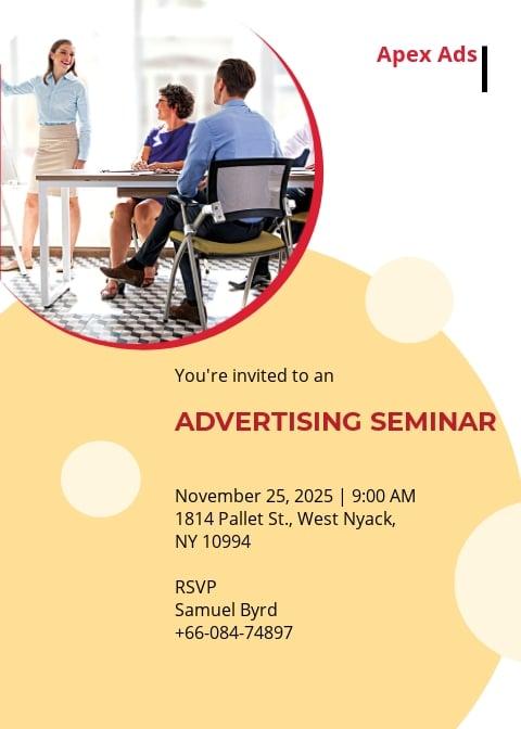 Advertising Consultant Invitations Template.jpe