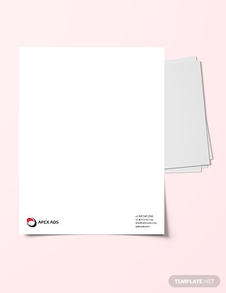 Advertising Consultant Letterhead Template