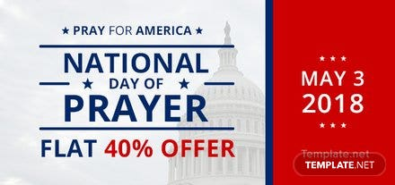 Free National Day of Prayer Voucher Template